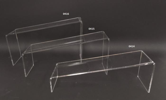 Alzatine oblique in plex trasparente