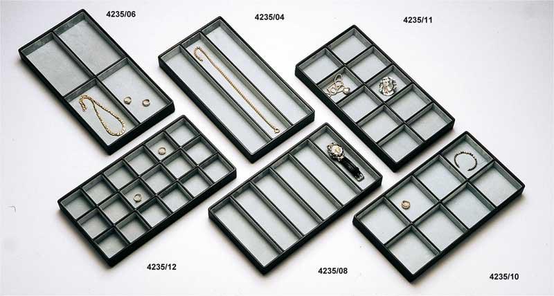 Jewellery and costume jewellery display trays