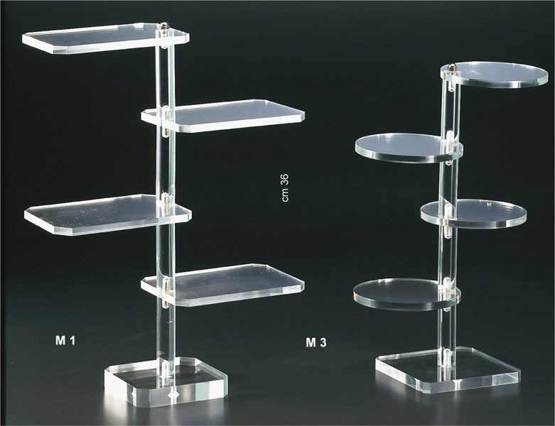 Clear plexiglass display stand