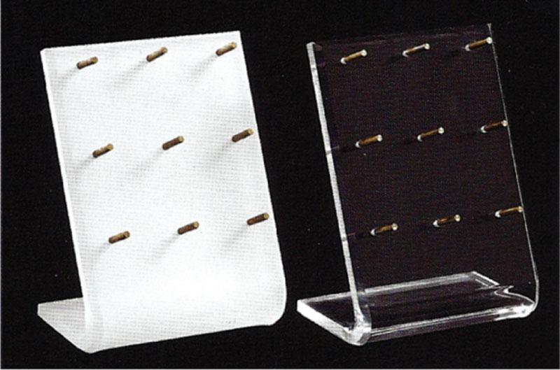 Espositori in plex bianco e trasparente
