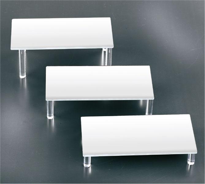 Set 3 tavoli plex bianco