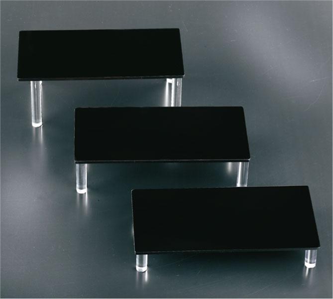 Set 3 tavoli plex nero
