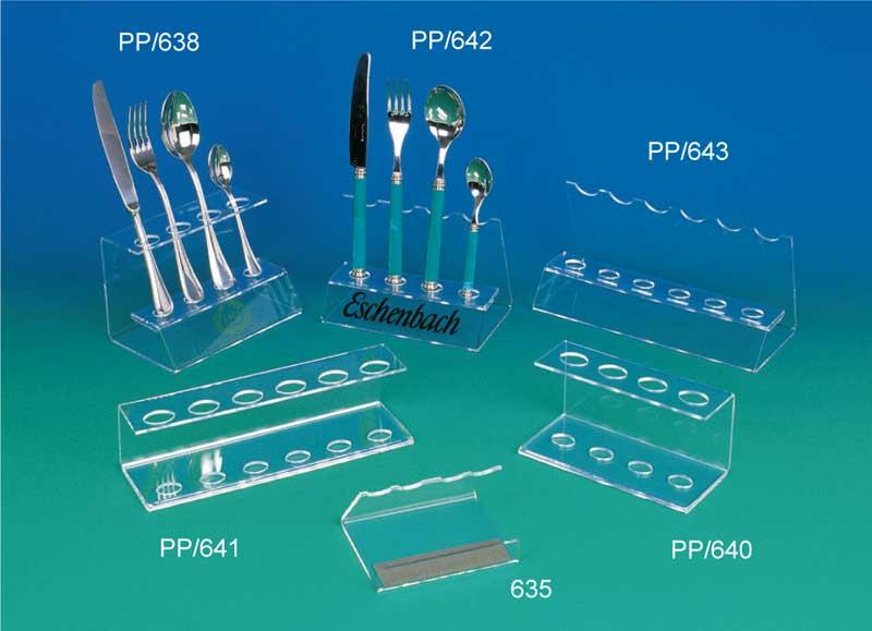 Clear plastic cutlery display