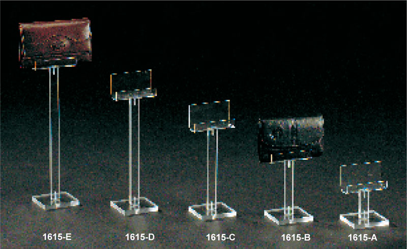 Single plexiglass wallet display