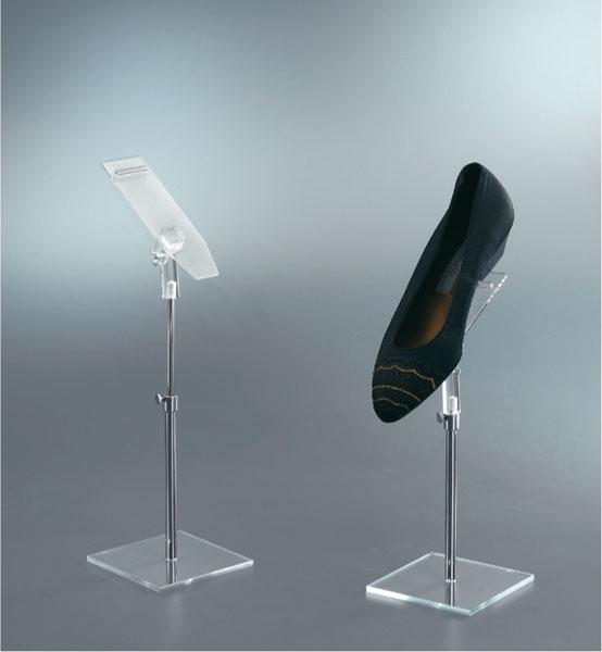 Adjustable shoe display stand