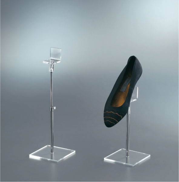 Adjustable shoe display stand