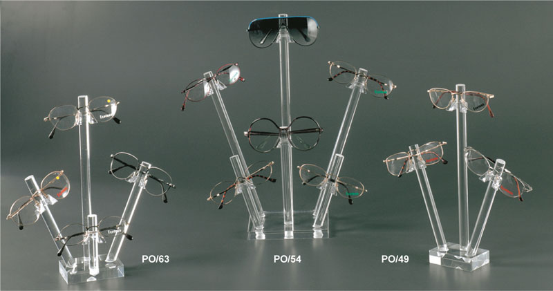 Clear plexiglass eyewear display