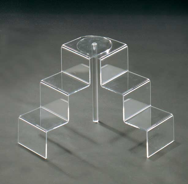 Clear plexiglass step unit display