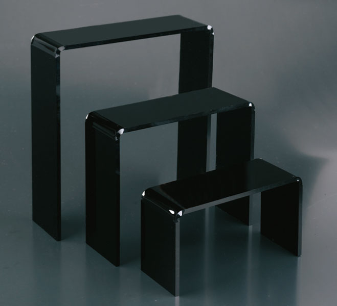 Set 3 tavoli plex nero spessore 5mm