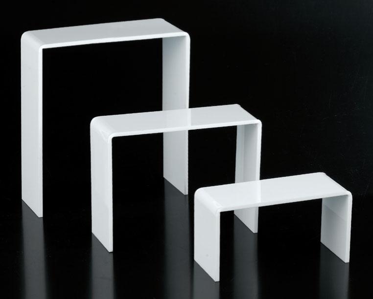 Set 3 tavoli plex bianco spessore 5mm