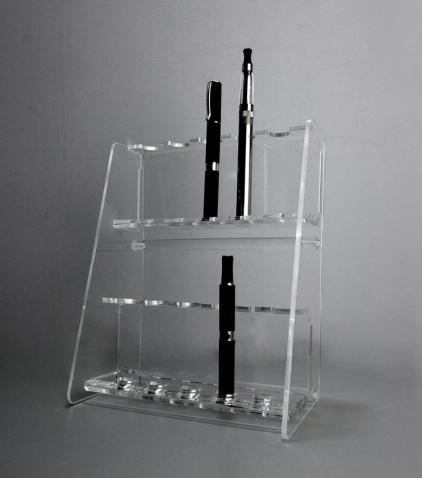 Clear plexiglass electronic cigarette and atomizer display stand