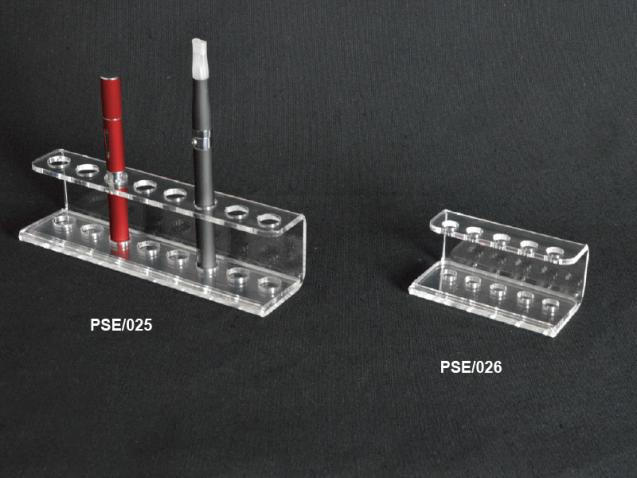 Clear plexiglass electronic cigarette display