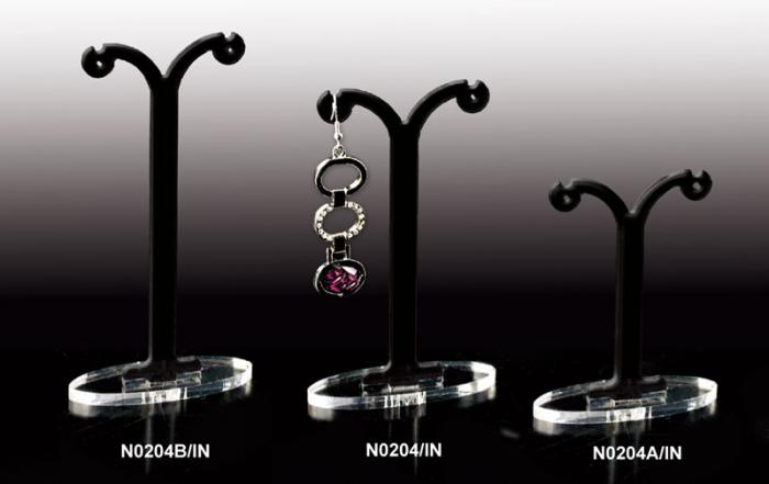 Black plexiglass earring display