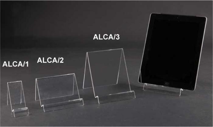 Clear plexiglass smartphone/tablet display