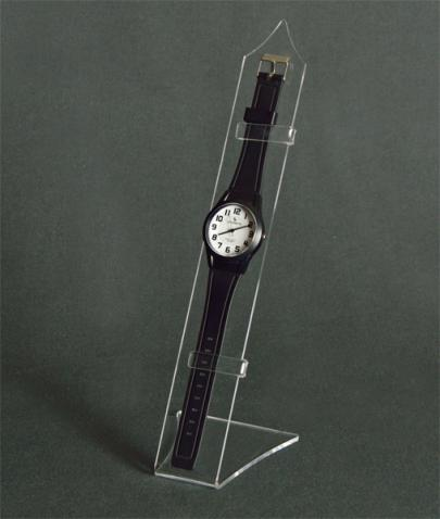 Clear plexiglass watch display