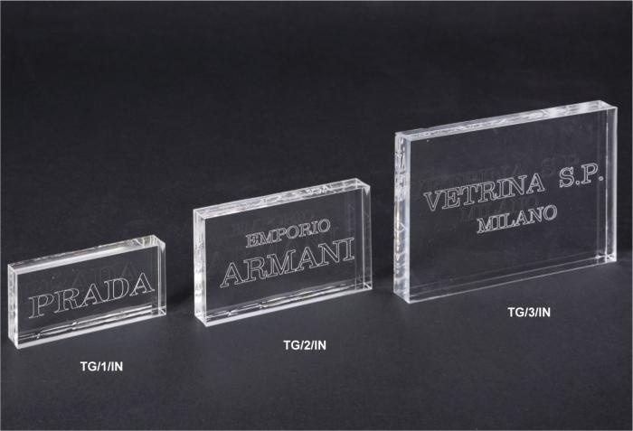 Laser engraved plexiglass plaque