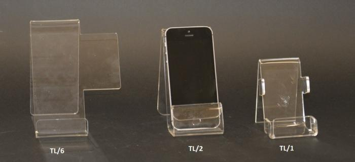 Clear plexiglass cell phone display