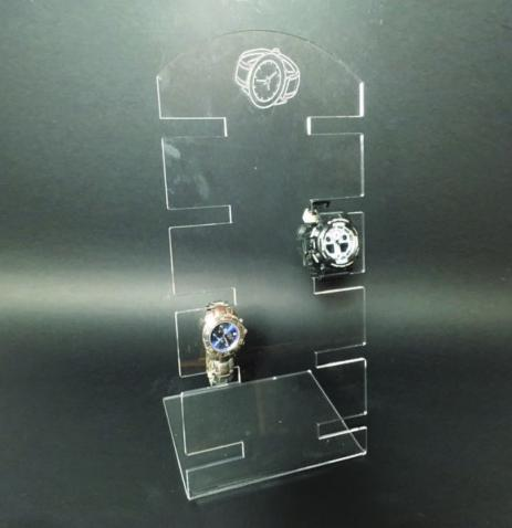 Clear plexiglass multi watch display stand