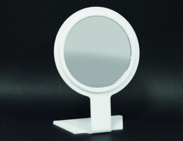 White round bench mirror