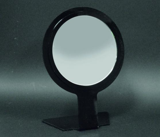 Round black bench mirror
