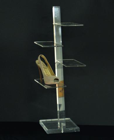 Plexiglas shoe display stand