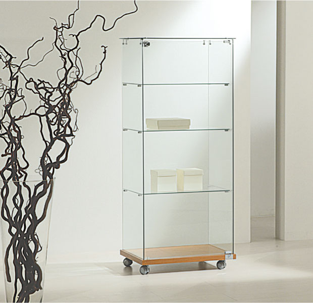Tempered glass showcases