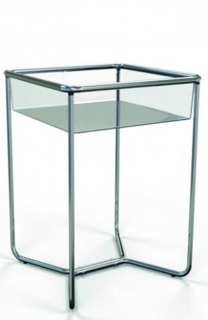 Squared promotional display stand