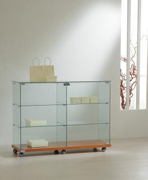 Banco vetrina in cristallo