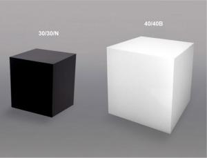 Cubi plex bianco e nero spessore 5 mm