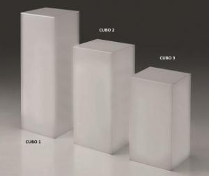 Cubo in plex opale