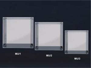 Wall mounted plexiglass cube