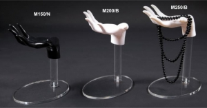 Espositore con mano bianca o nera