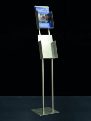 Metal display brochure holder