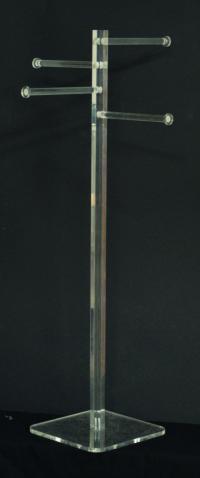 Clear plexiglass tie display stand