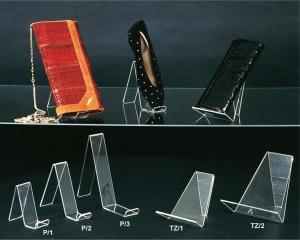 Plexiglass clutch bag/wallet/ballet flat display