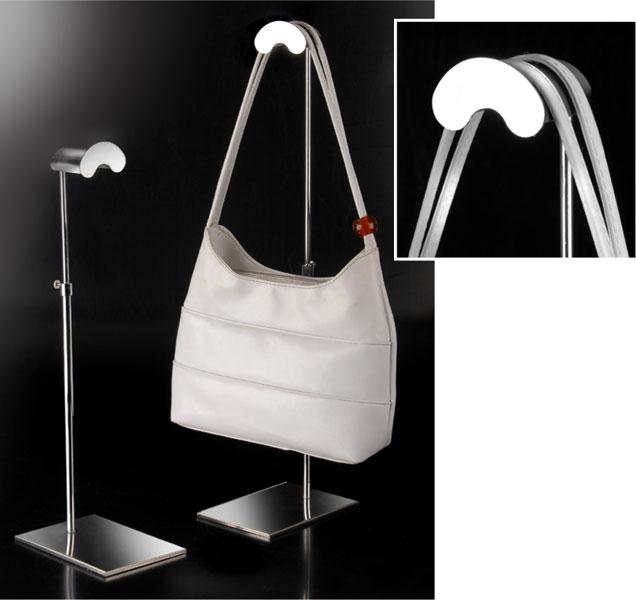 Espositore per borse regolabile in altezza