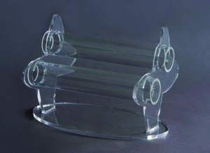 Two-tier bracelet display stand