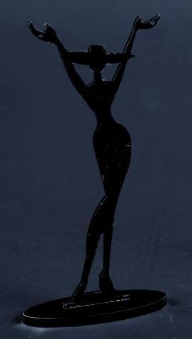 Plexiglass necklace display 95 cm height