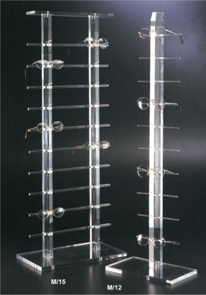Plexiglass eyewear display stand