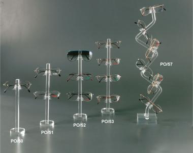 Clear plexiglass eyewear display