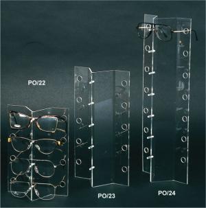 Countertop plexiglass eyewear display stand