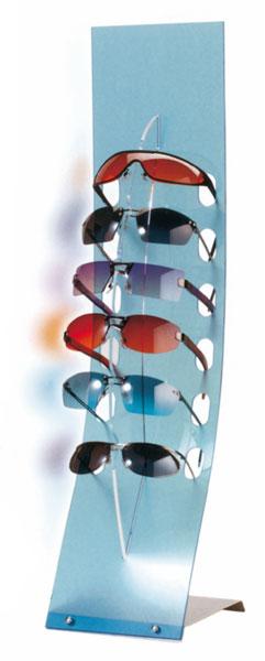 Countertop eyewear display stand with 6 holders