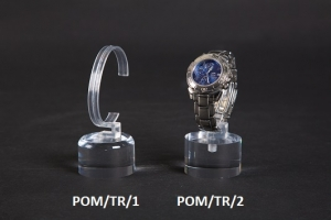 Clear plexiglass single watch display