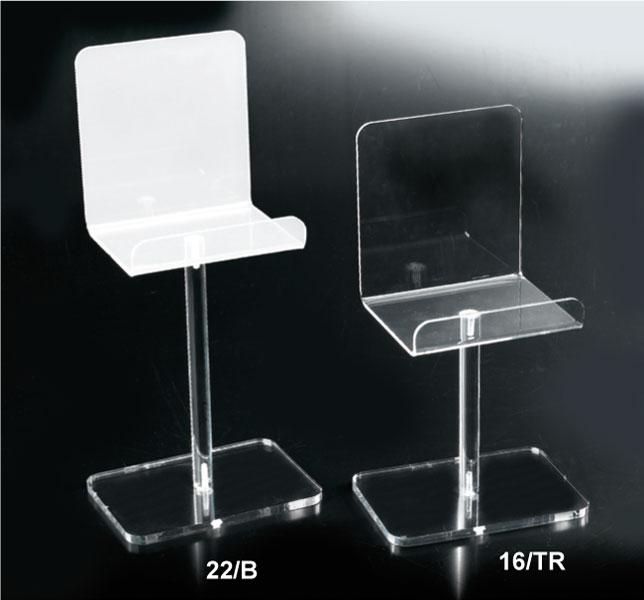 Espositore per pelletteria in plex bianco o trasparente
