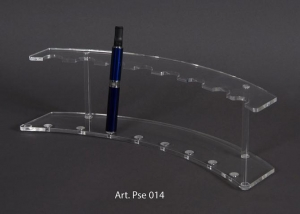 Clear plexiglass electronic cigarette display with 8 holders