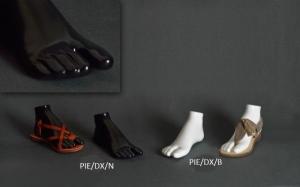Gloss plastic flip-flop foot form