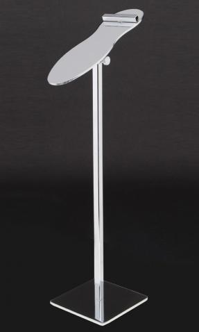 Adjustable chrome shoe display riser
