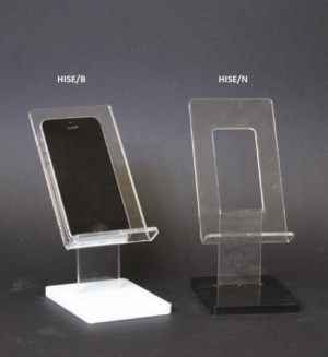 Plexiglass cell phone display with base