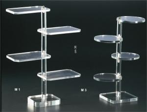 Clear plexiglass display stand