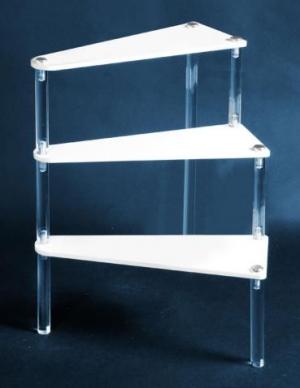 Plexiglass step unit display